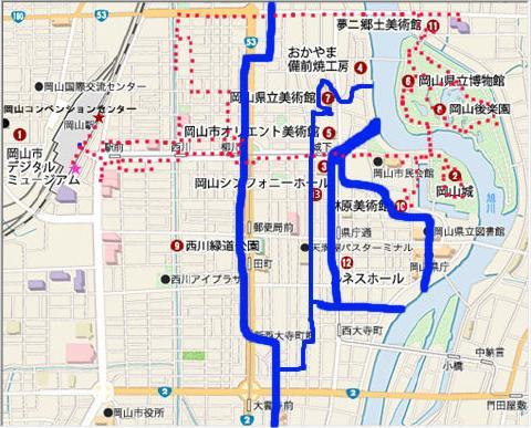 pict-Okayama city map 江戸期・堀概図