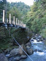 遊歩道には大小10本の吊り橋が架かっています