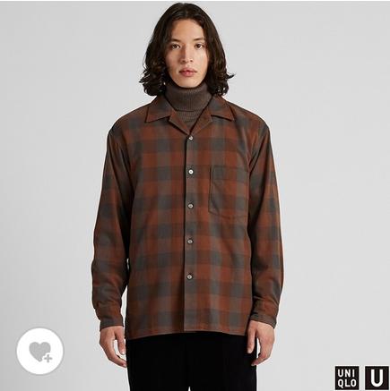 ワイドフィットフランネルチェックシャツ