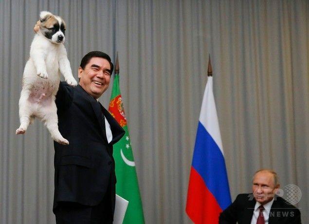 【エンタメ画像】プーチン「てめえ。犬の持ち方違うだろうが」 (画像あり)