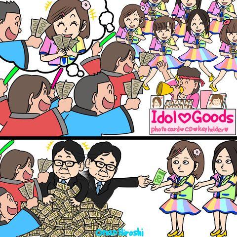 【エンタメ画像】【画像】 外国人が描いたAKBの風刺画をご覧ください!!!!!!!!!!!