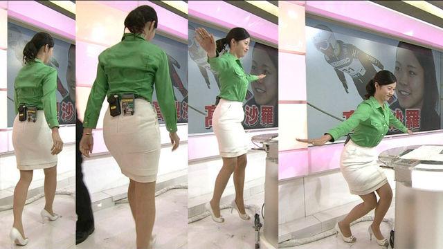 【エンタメ画像】NHKのアナウンサーでも割とこういうタイトなスカート履いてるんだな (画像あり)