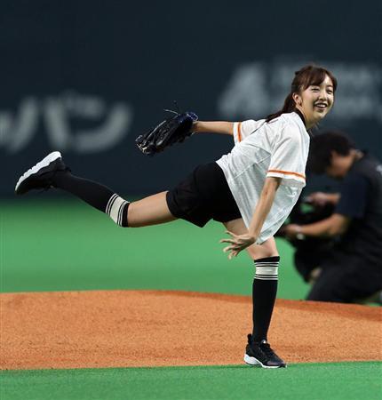 【エンタメ画像】板野友美さんの始球式の様子がこちら★★★★★(画像あり)
