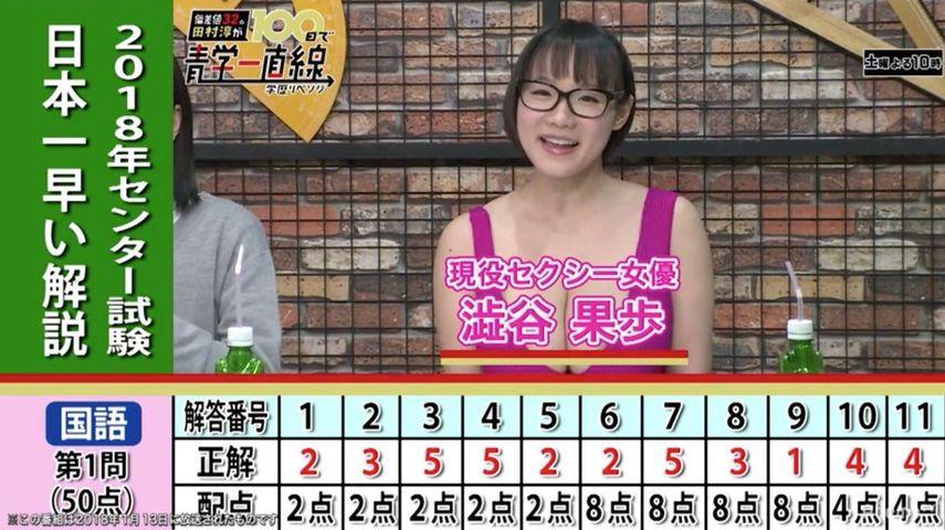 【エンタメ画像】高学歴セクシー女優「まさかセンターの点数私に負けるやついないよね?!!」