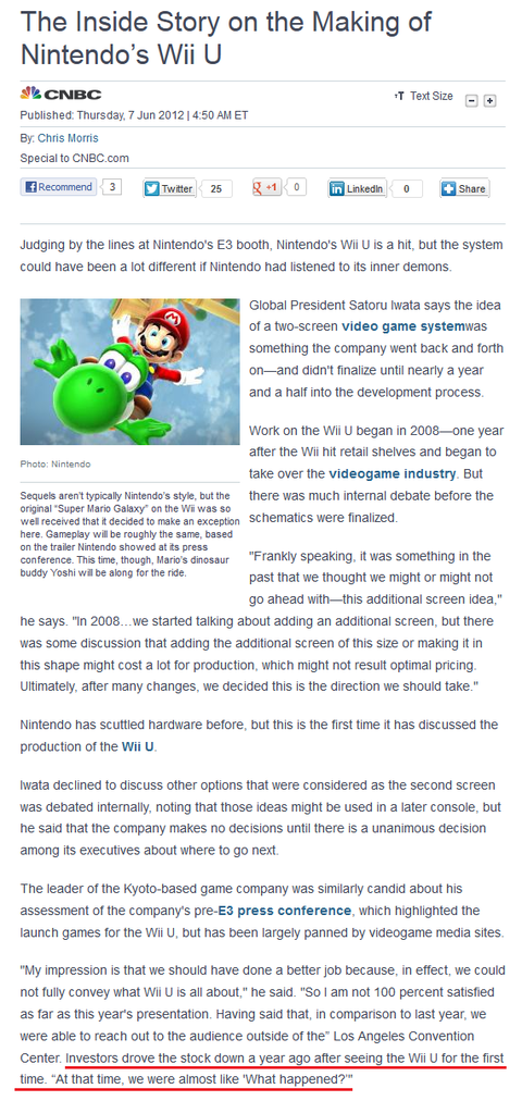 The Inside Story on the Making of Nintendo's Wii U2011