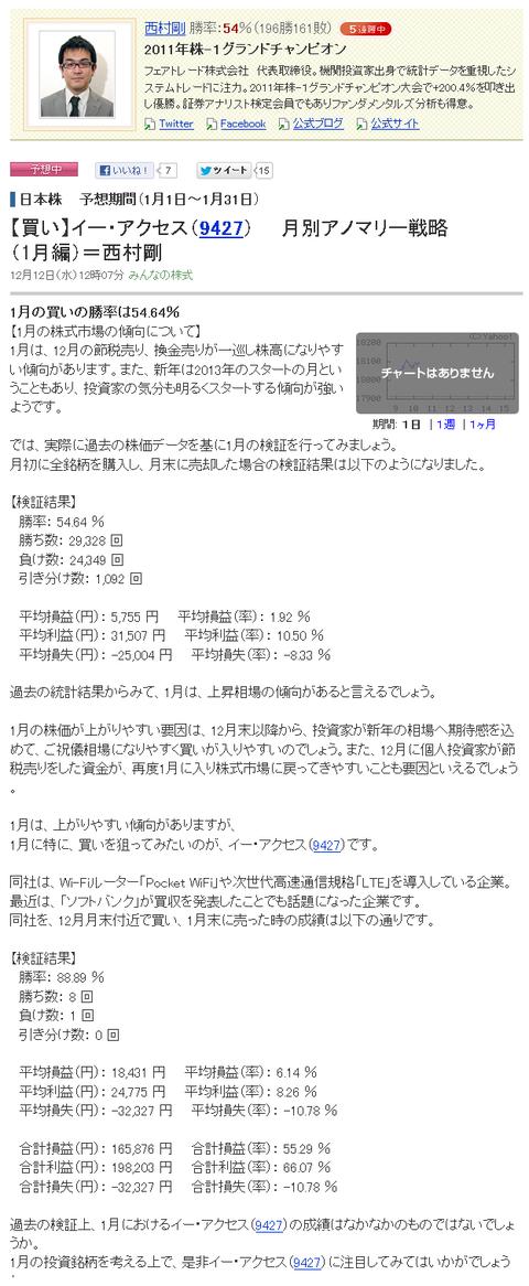 【買い】イー・アクセス(9427)