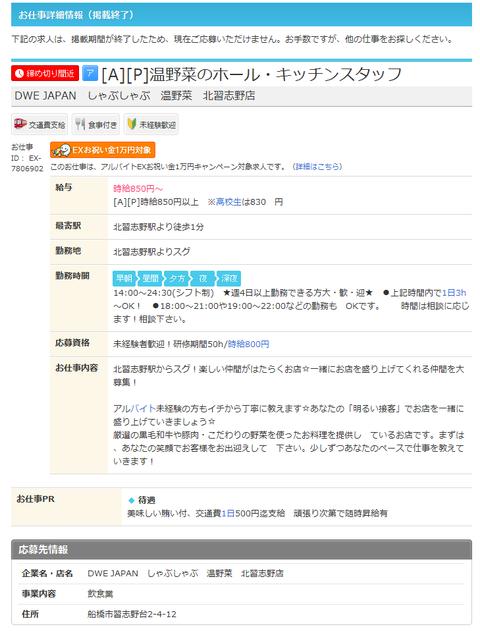 DWE JAPAN しゃぶしゃぶ 温野菜 北習志野店