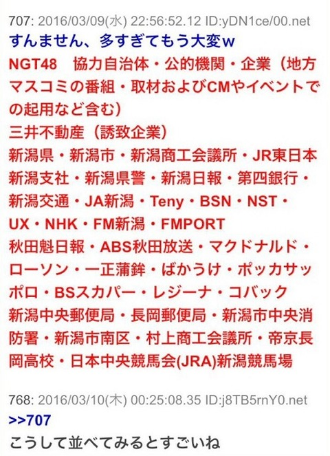 NGT関連企業