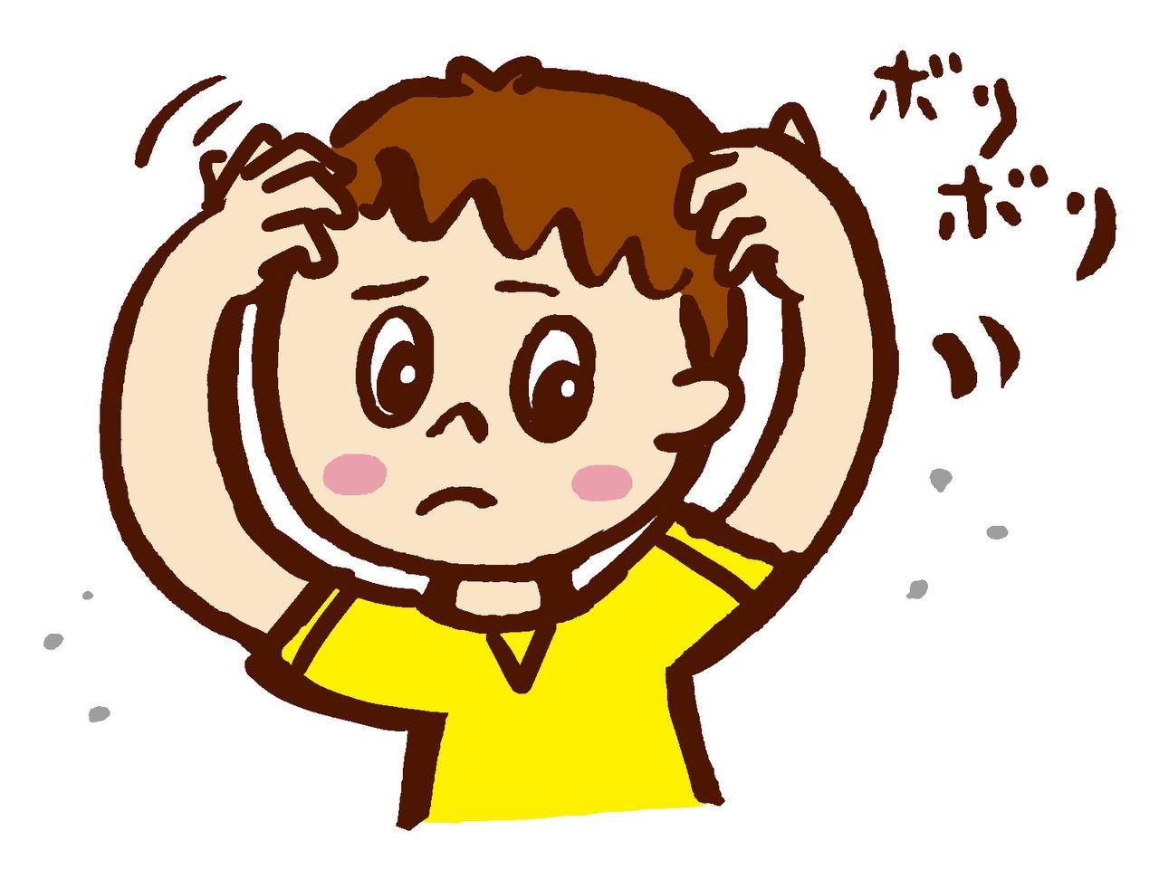 頭皮かさぶた ストレス