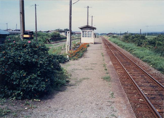 有戸駅 : プラットホームの旅