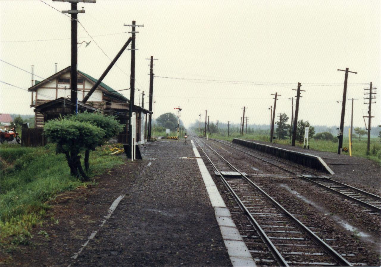 上更別駅 : プラットホームの旅