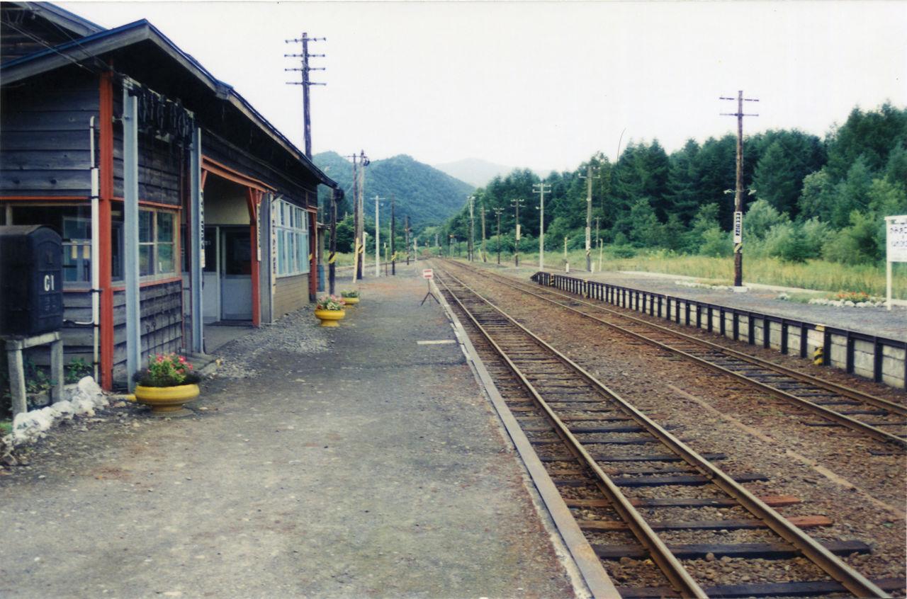 上興部駅 : プラットホームの旅