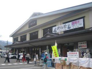 里曳き3日目の下諏訪駅