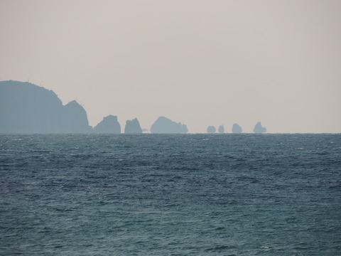 日本海 の風景 蜃気楼浮島 益田市