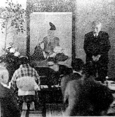 柿本神社での徳川夢声19651103