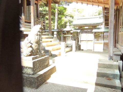 櫛代賀姫神社 本殿 懸魚 狛犬