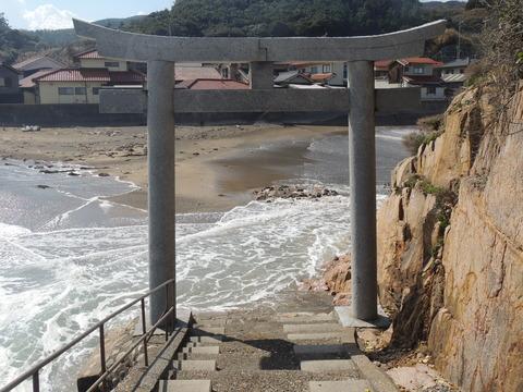 恵比寿神社 宮ヶ島 鳥居前