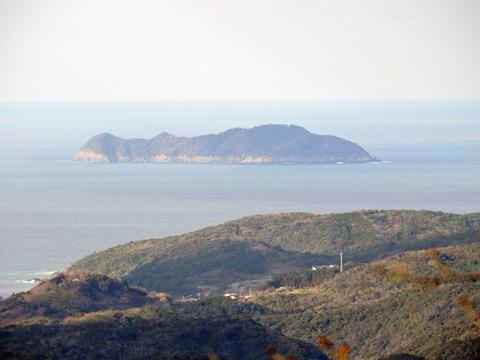 益田市の比礼振山(権現山)より高島