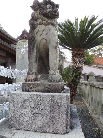 狛犬 阿 益田市 高津柿本神社