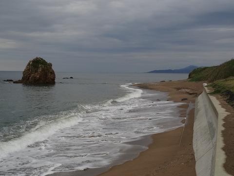 益田市 三里ヶ浜 の観音岩周辺と防波堤 平成26年9月