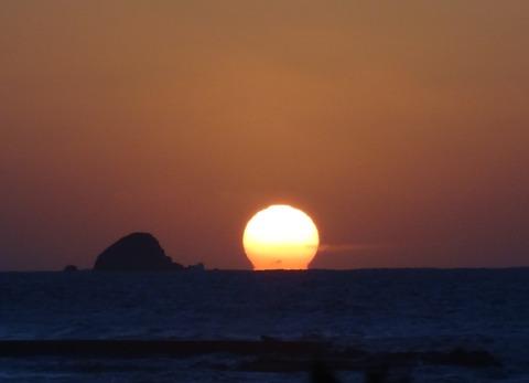 益田市 日本海だるま夕日の風景 平成25年9月16日