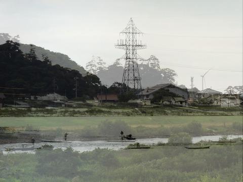 昭和3年鍋山写真と現在比較(益田市高津)s