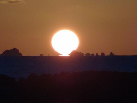 益田市沖だるま夕日の風景20121005