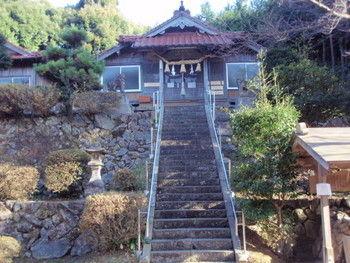 佐毘売山神社 前 益田市