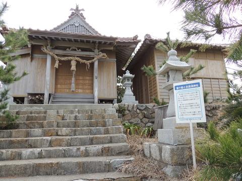 宮ヶ島の恵比寿神社 拝殿 正面