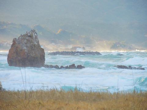 益田市の風景 観音岩、猫島、宮ヶ島
