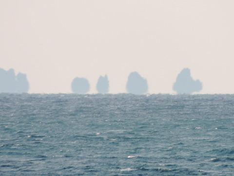 益田市浮島現象の風景