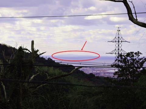 益田市の佐毘売山神社から見島ss