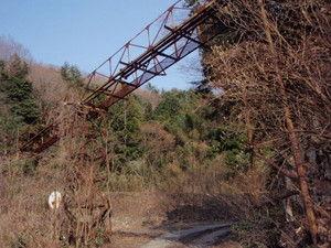 都茂鉱山の丸山坑関連設備 残骸 益田市