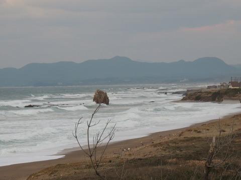 益田市の観音岩の風景11月