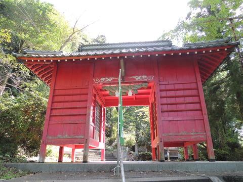 益田市 住吉神社の随身門