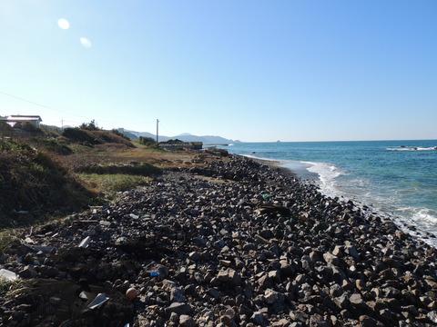 益田市の持石海岸の2014年の風景
