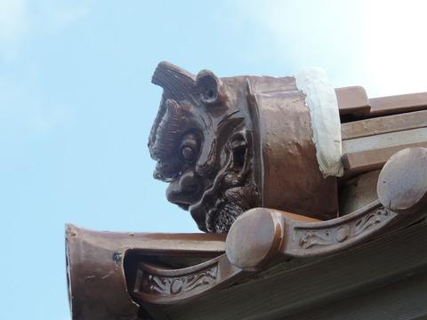 恵比寿神社 鬼瓦 正面左
