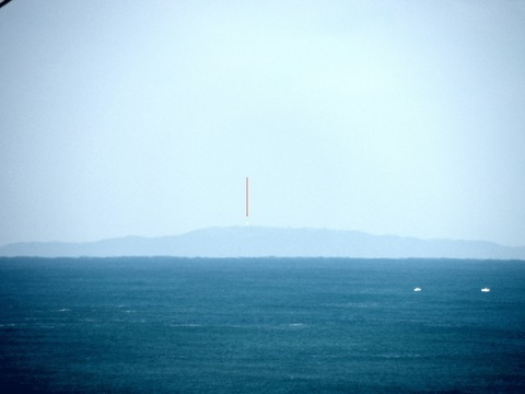 益田市から見島が見えた。オートコントラストac説明1