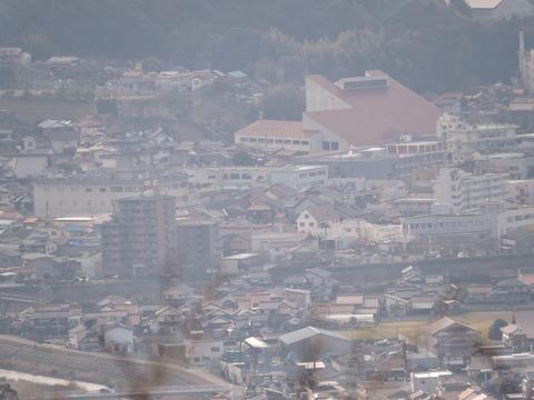 益田十景「比礼振山から」2015年2月1日益田市役所付近