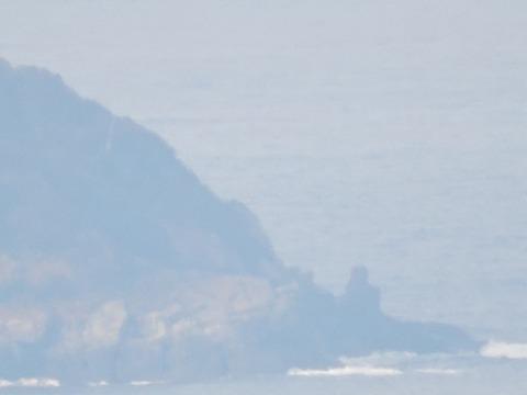 益田市の比礼振山(権現山)より高島 腰掛岩の風景