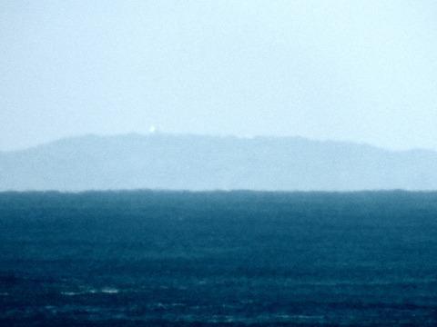 益田市から見島が見えた。オートコントラストacac