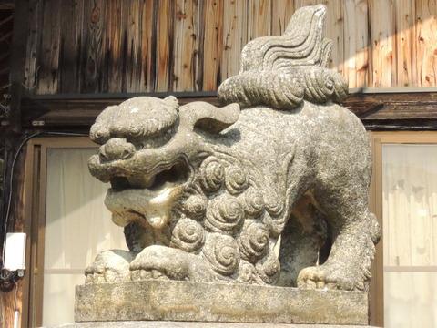 狛犬 右 阿 櫛代賀姫神社 益田市