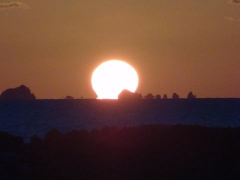 だるま夕日 益田市の風景20121005