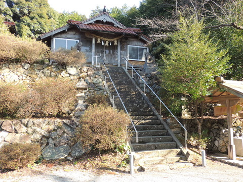 佐毘売山神社 2014年2月23日 益田市