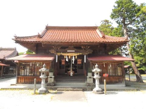 櫛代賀姫神社 拝殿正面 益田市