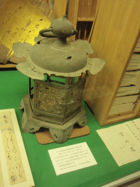 大久保長安奉納銅製六角釣頭灯籠1