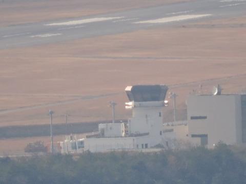 益田十景「比礼振山から」2015年2月1日萩石見空港無人管制塔
