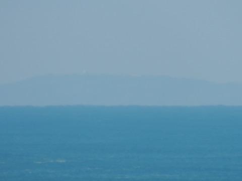 益田市から見島が見えた。元画像2