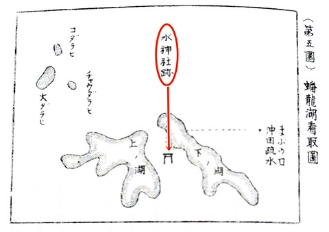 高津町誌 蟠竜湖水神社跡