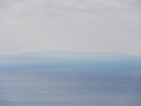 益田市から見島の風景